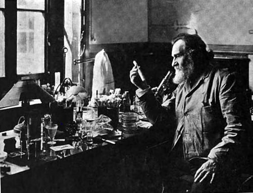 Metchnikoff in his laboratory
